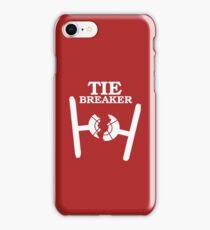 TIE BREAKER white iPhone Case/Skin
