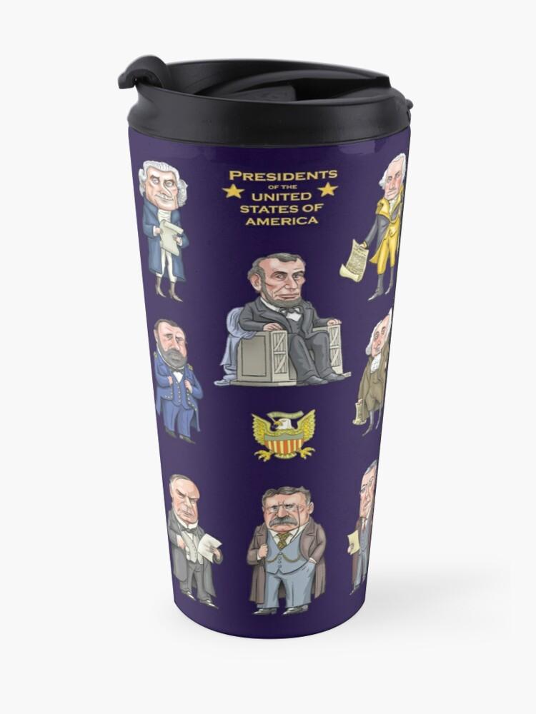 Alternate view of Presidents of the United States Travel Mug