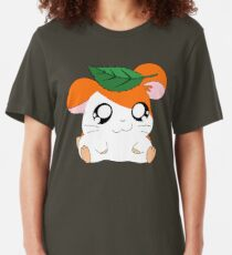 Hamtaro with Leaf Slim Fit T-Shirt