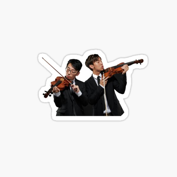 twoset violin - brett and eddy - dynamic duo Sticker
