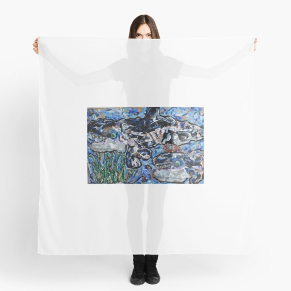 Orcas Swimming into Seagrass Scarf