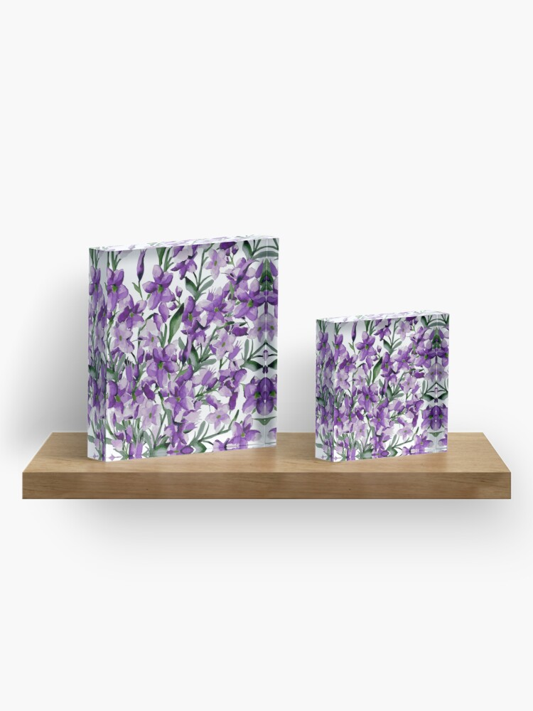 Alternate view of Lilac Acrylic Block