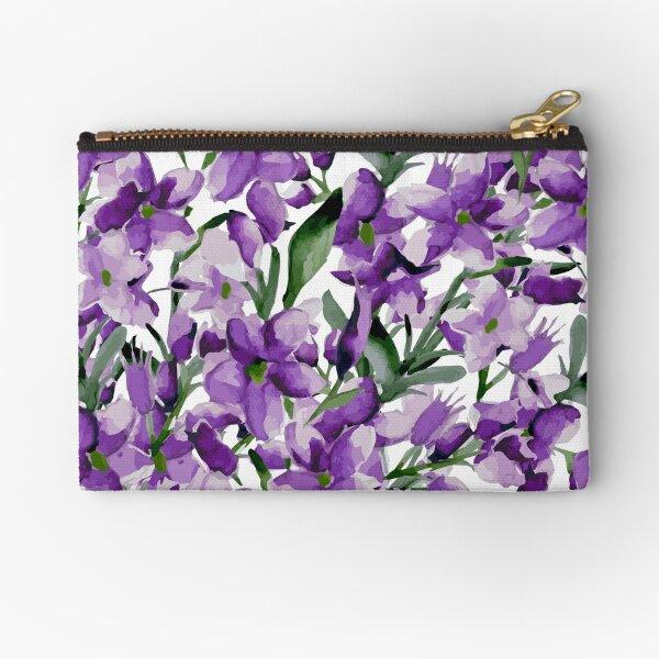 Lilac Zipper Pouch