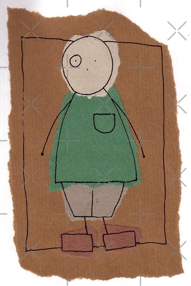 Brown paper boy by Jonesyinc