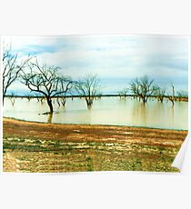 Lake Pinaroo, Sturt National Park Poster