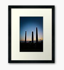 sunset stacks Framed Print
