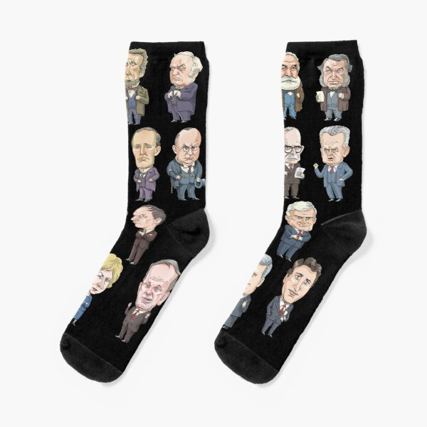 Prime Ministers of Canada Socks