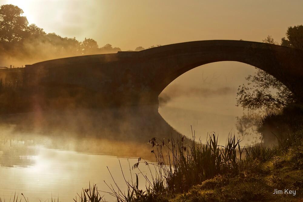 Tyringham Bridge Morning Mist by Jim Key