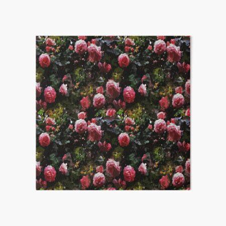 Dark Floral Rose Garden Art Board Print