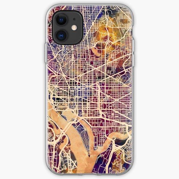 Washington DC Straßenkarte iPhone Flexible Hülle