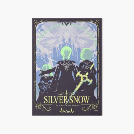 Silver Snow Art Board Print