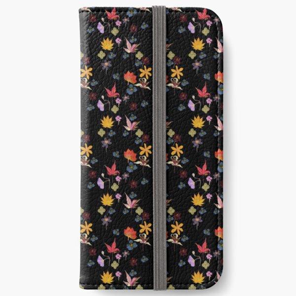 Dark Floral Leaf Garden iPhone Wallet