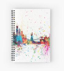 Cuaderno de espiral Skyline de Nueva York
