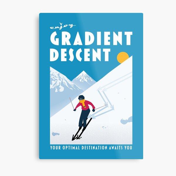 Enjoy gradient descent Metal Print
