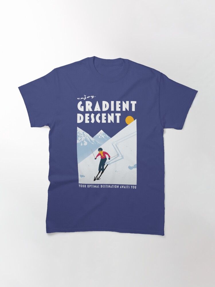 Alternate view of Enjoy gradient descent Classic T-Shirt
