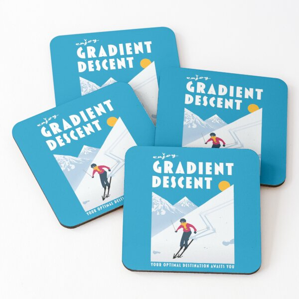 Enjoy gradient descent Coasters (Set of 4)
