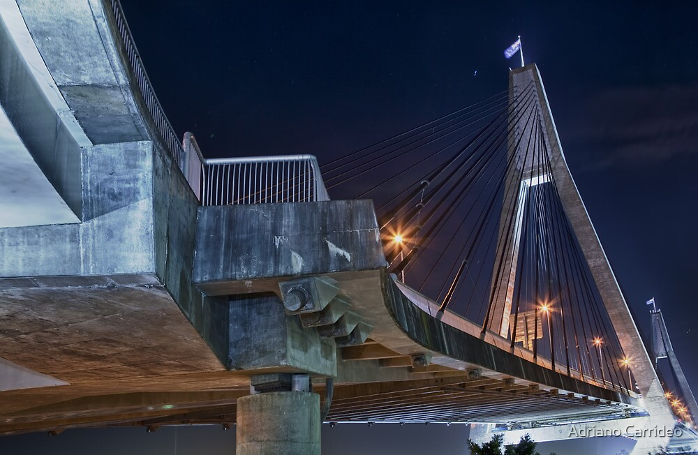 Suspended - Anzac bridge by Adriano Carrideo
