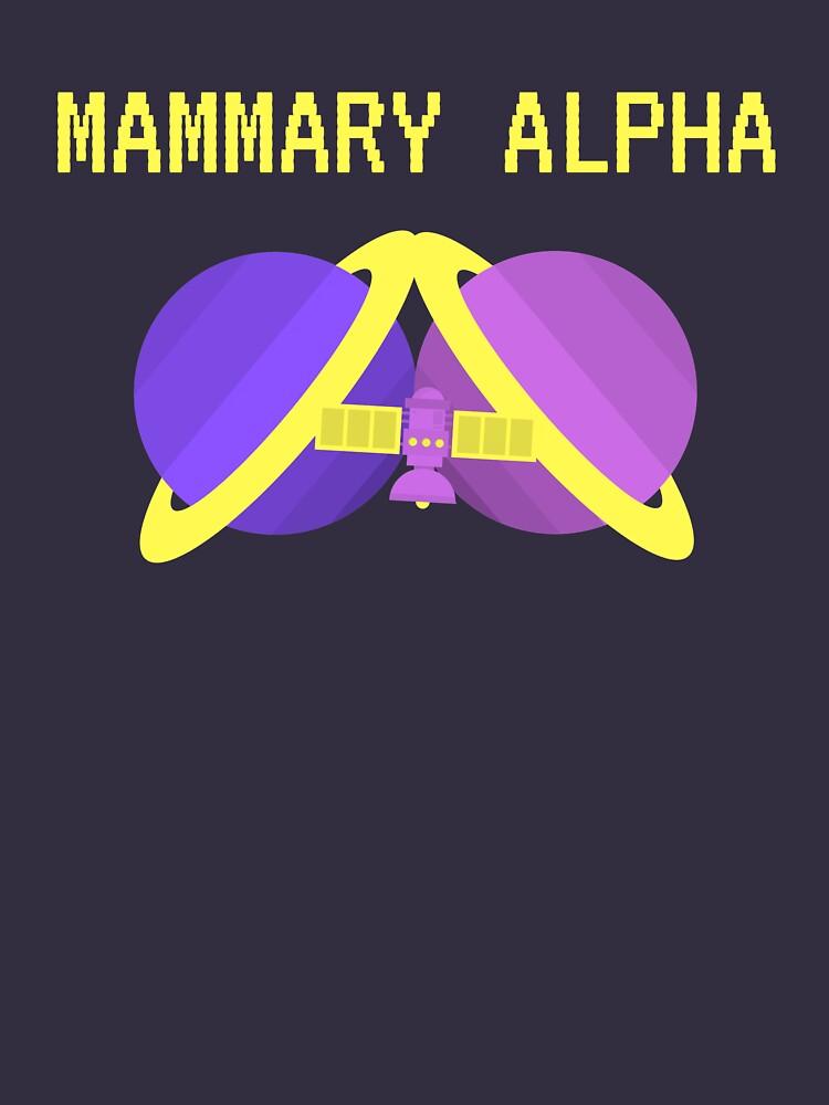Mammary Alpha logo shirt season 2 colors by mammaryalpha