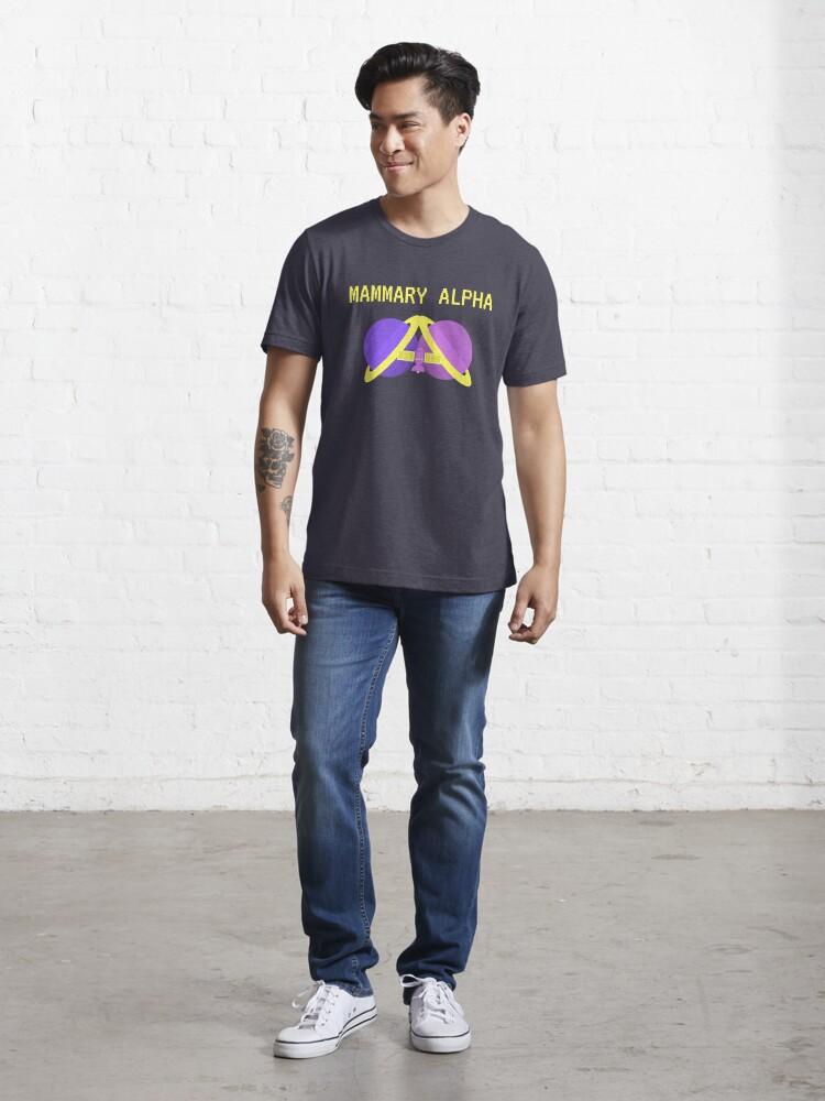 Alternate view of Mammary Alpha logo shirt season 2 colors Essential T-Shirt