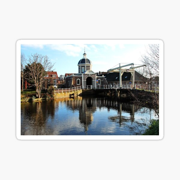 The Morspoort, an old Leiden Gate House Sticker