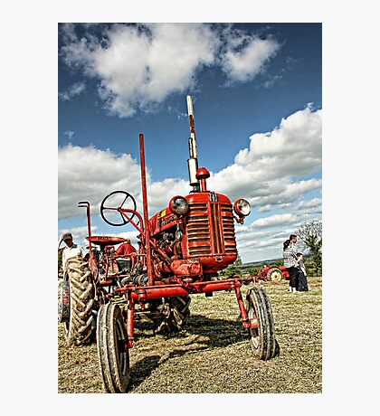 Red Tractor Photographic Print