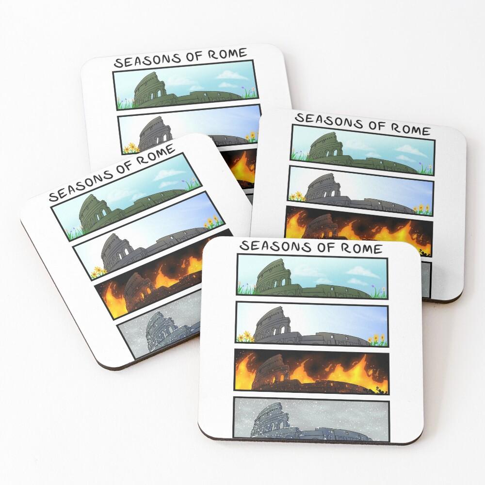 Seasons of Rome Coasters (Set of 4)