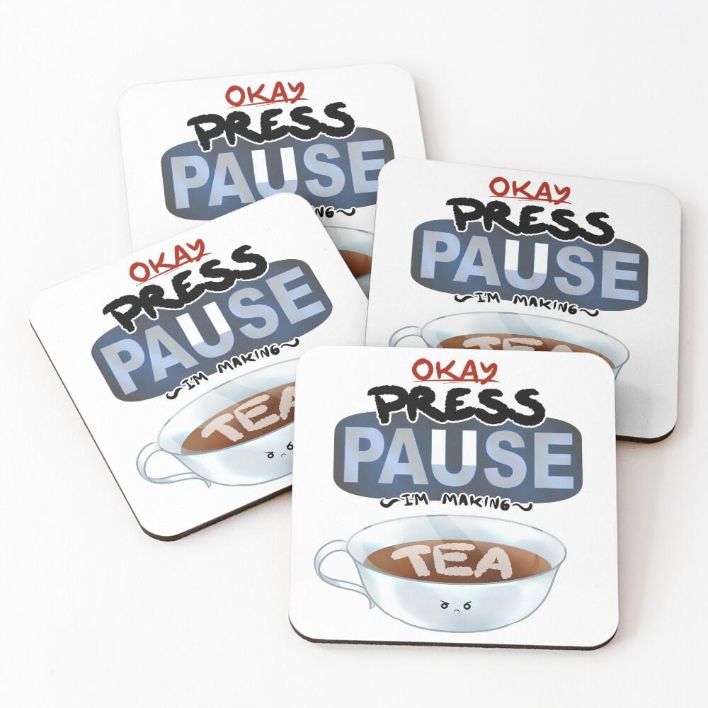 Ragequit Tea Break Coasters (Set of 4)