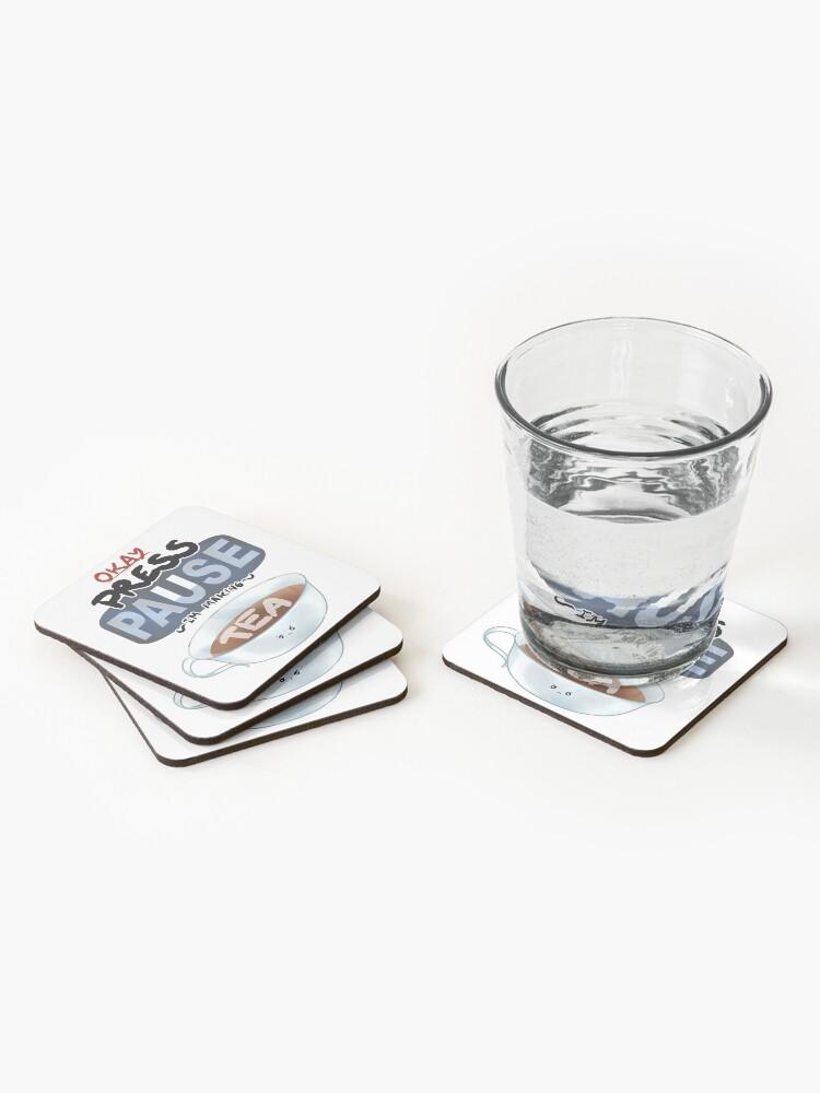 Alternate view of Ragequit Tea Break Coasters (Set of 4)