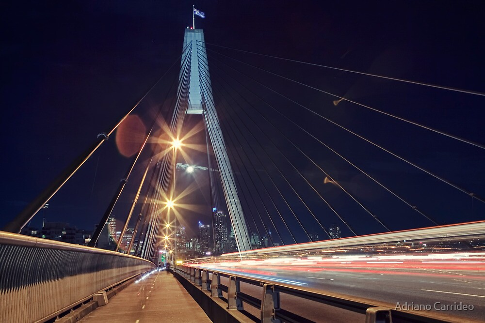 Time, Movement, Motion - Anzac bridge by Adriano Carrideo