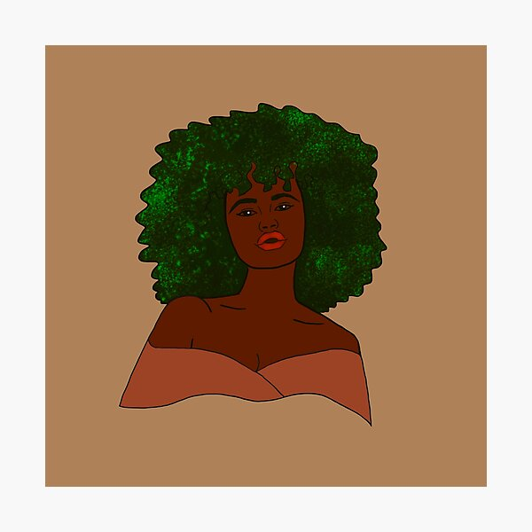 Green Afro Photographic Print