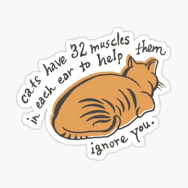 32 Muscles To Ignore You Sticker