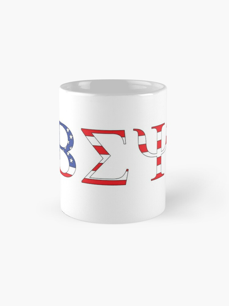 Alternate view of Beta Sigma Psi - American flag Mug