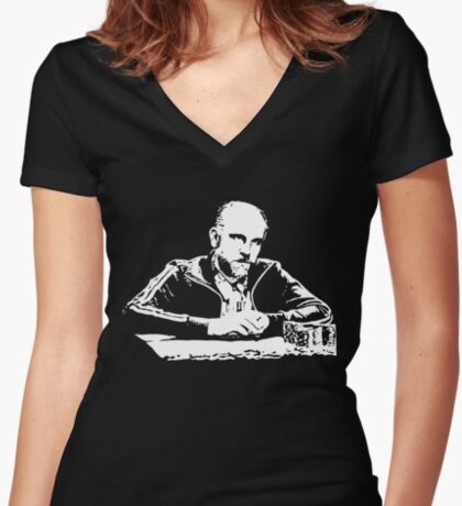 Teddy KGB Rounders Fitted V-Neck T-Shirt