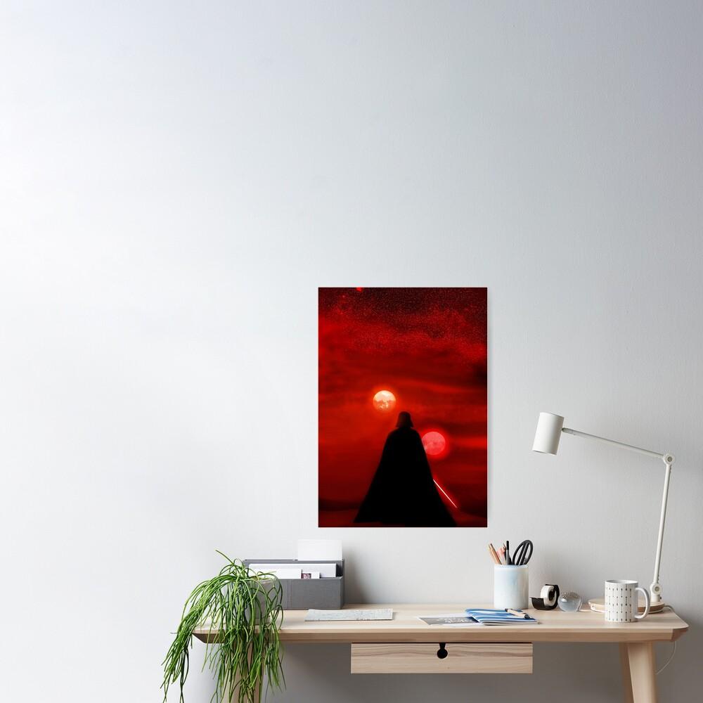 Vader Tatooine Binary Sunset Poster