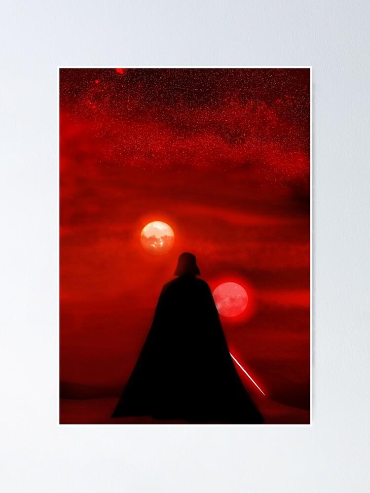 Alternate view of Vader Tatooine Binary Sunset Poster
