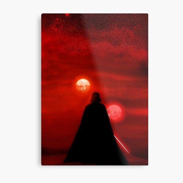 Vader Tatooine Binary Sunset Metal Print