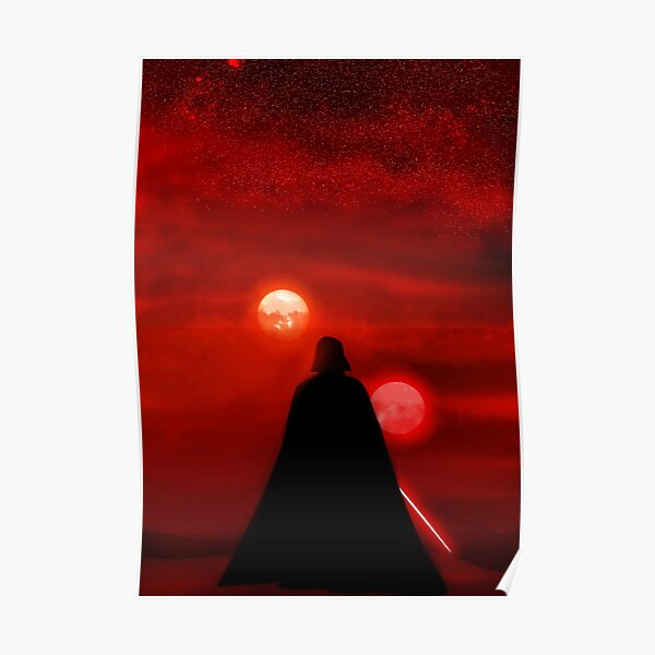 Vader Tatooine Binary Sunset Poster