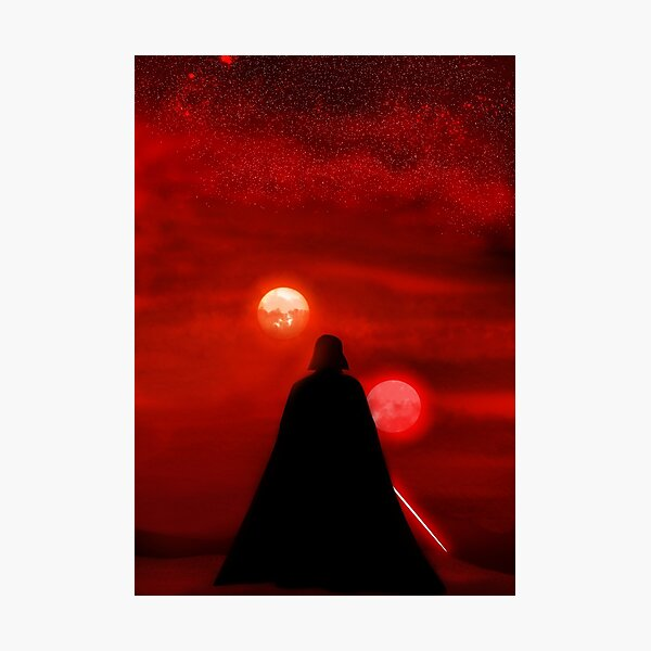 Vader Tatooine Binary Sunset Photographic Print