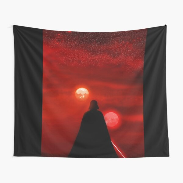 Vader Tatooine Binary Sunset Tapestry