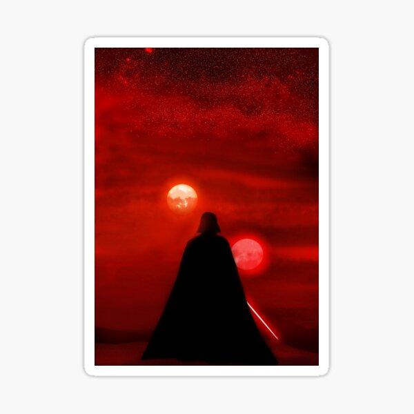 Vader Tatooine Binary Sunset Sticker
