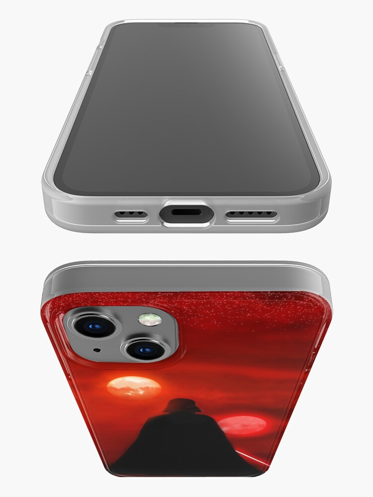 Alternate view of Vader Tatooine Binary Sunset iPhone Case