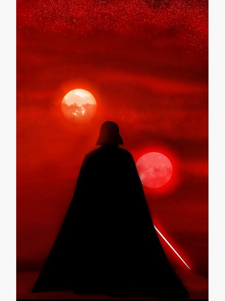 Vader Tatooine Binary Sunset by BountyLaw