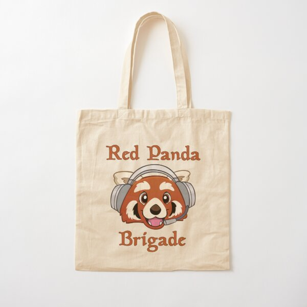 Red Panda Brigade Cotton Tote Bag