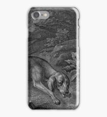 Bloodhound in Black and White iPhone Case/Skin