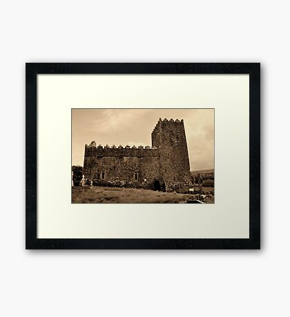 St Munna's Church. Taghmon,  Westmeath Ireland. Framed Print