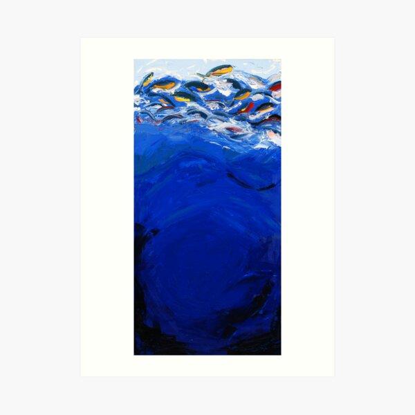 Blue #1, Musashi Series Art Print