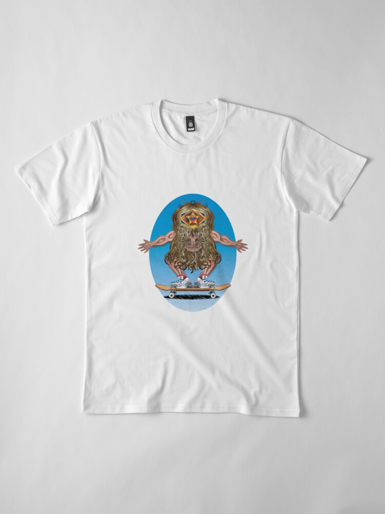Alternate view of Caveman Skate  Premium T-Shirt