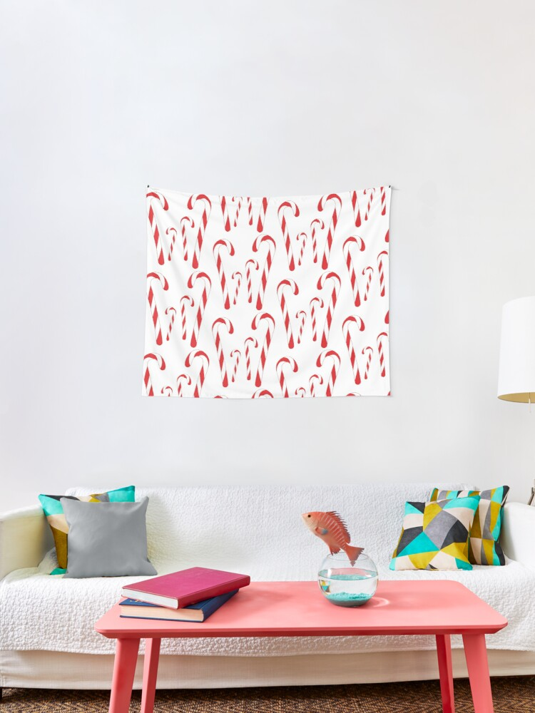 Candy Cane Forest Tapestry By Ravenwear Redbubble