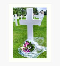Colleville-sur-Mer Normandy - American Cemetery   Art Print