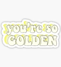 Golden Lyrics Harry Styles Fine Line Glossy Sticker